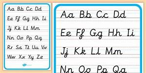 cursive letters lowercase and capital letters example With cursive letters upper and lower case