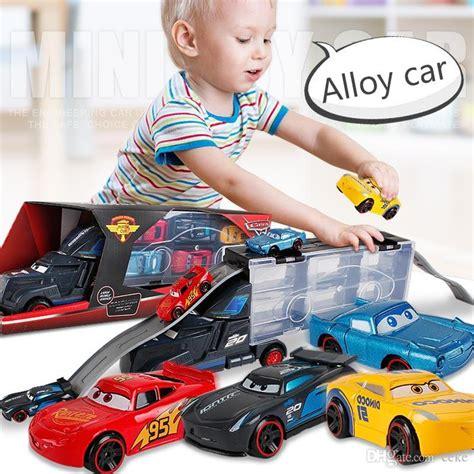 large container trucks portable pick  truck kids toys alloy trailer mini gift children
