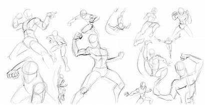 Poses Male Drawing Anatomy Human Action Sketches