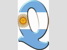 Alfabeto con la Bandera de Argentina Oh my Alfabetos!