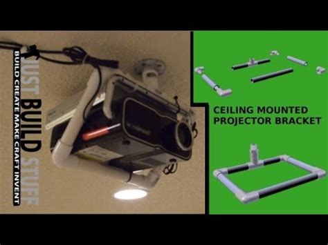 Ceiling Projector Mount Diy by Diy Ceiling Mounted Projector Bracket Made From Pvc Pipe