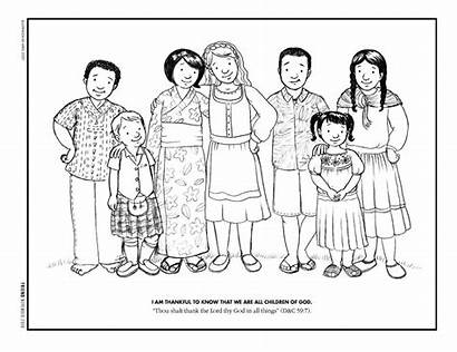 Coloring Pages God Child Lds Members Gratitude