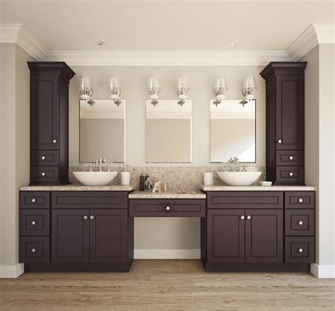 Using Kitchen Cabinets In Bathroom by Espresso Bean Ready To Assemble Bathroom Vanities Cabinets