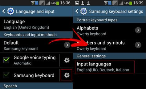 android keyboard settings setup to type different languages on android easily