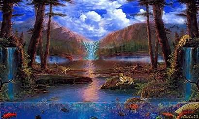 Mobile9 Animated Water Landscape Gifs Fantasy Naturaleza