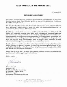 Cover Letter For Cook Chef Reference Letter Blue Bay 11 01 2012