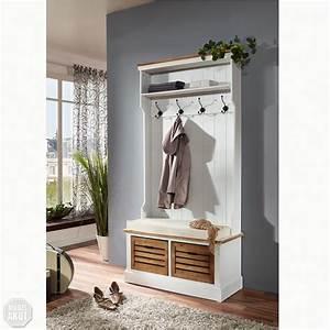 Garderobe Holz Weiß : garderobe paris in paulownia holz weiss vintage look landhaus ebay ~ Frokenaadalensverden.com Haus und Dekorationen