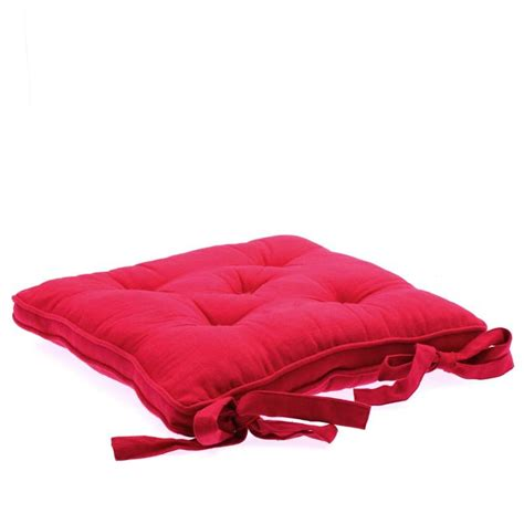 coussin de chaise déhoussable coussin chaise 5 boutons framboise