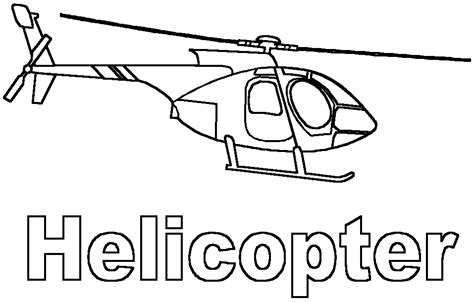 helicopter  transportation printable coloring pages