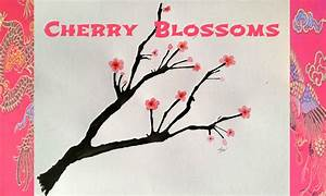 Cherry Blossom Blow Painting Tutorial | Art Supply Guide