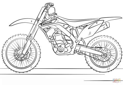 how to draw a motocross bike kawasaki motocross bike coloring page free printable