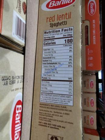barilla red lentil spaghetti  ounce box costcochaser