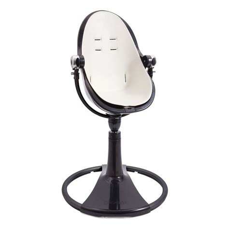 bloom black fresco chrome baby high chair coconut white