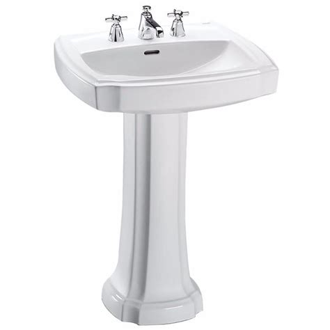 toto pedestal sink home depot toto guinevere 25 in pedestal combo bathroom sink with 8