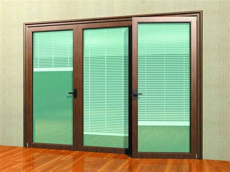Sliding Door With Blinds In The Glass by Sliding Glass Door With Blinds Door Mini Blinds Blinds