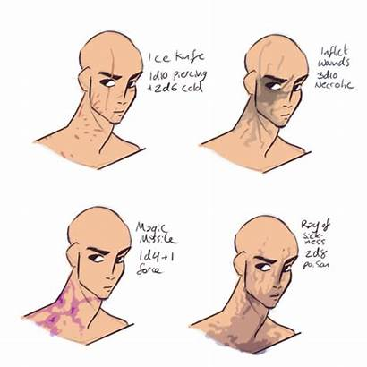 Scars Spell Reference Drawing Filibusterfrog Level Character