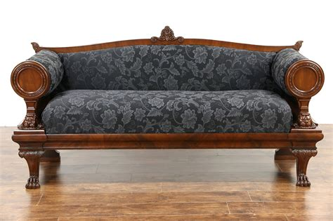 Second Settees Ebay by Mahogany Sofa American Empire Sleigh Sofa In Mahogany