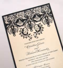wedding venues new orleans ivory black wedding invitations onewed