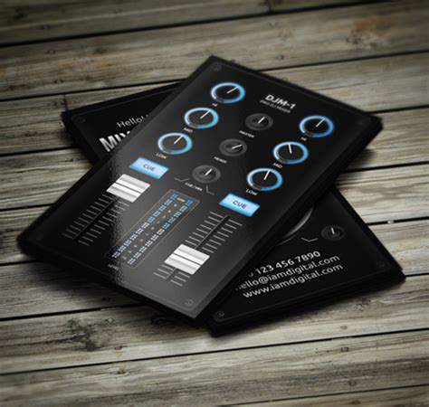 amazing dj business cards psd templates design graphic