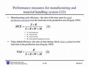 PPT - Material Handling System Performance analysis ...