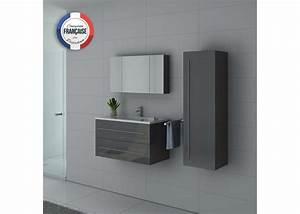 Meuble Salle De Bain Gris : meuble de salle de bain simple vasque gris taupe nova gt ~ Preciouscoupons.com Idées de Décoration
