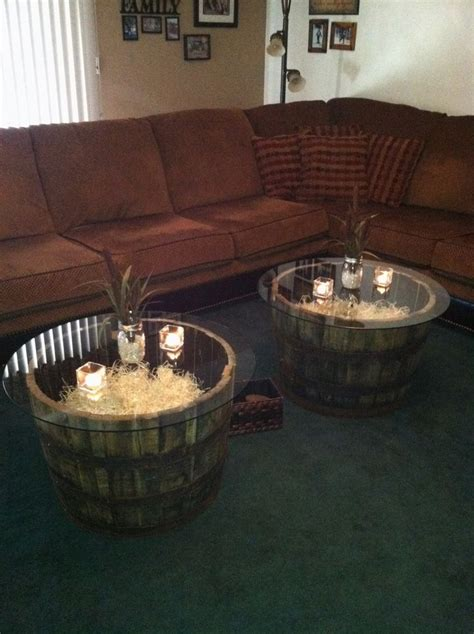 jack daniels whiskey barrel coffee tables screened