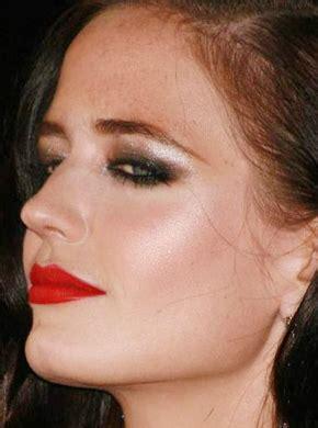 celeb   eva greens smoky eye red lip bold