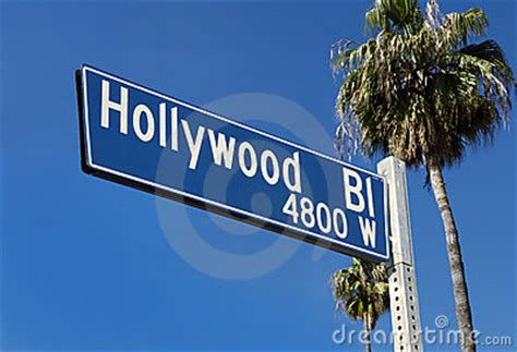 hollywood blvd street sign stock image image