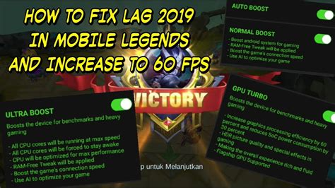 How To Fix Lag In Mobile Legends 2019 And Increase Fps To