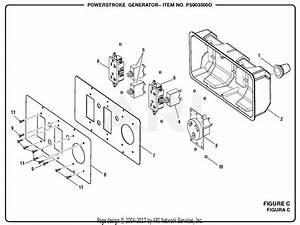 Homelite Ps903500d Powerstroke 3 500 Watt Generator Mfg