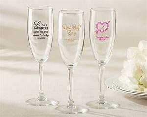 Personalized Bridal Shower and Wedding Favors Champagne