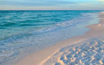 Sand Beach Wallpapers Foamy Reaching Waves