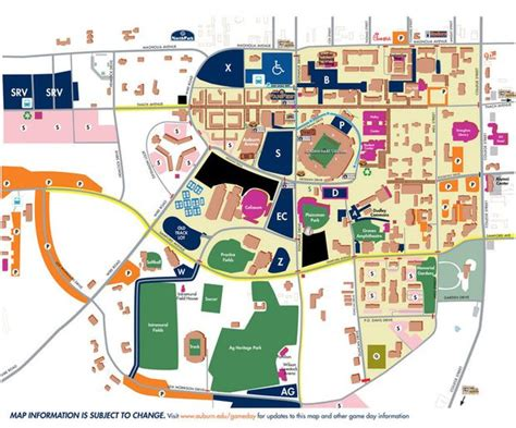 Uab Parking Deck Map by Parking Travel Tips For Homecoming Weekend Auburn