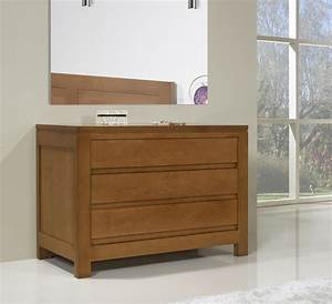 commode 3 tiroirs en chene massif de style contemporain With meubles en chene massif contemporain