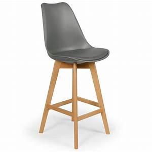 Chaises Hautes Cuisine : chaise haute scandinave orna gris lot de 4 ~ Teatrodelosmanantiales.com Idées de Décoration