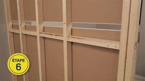 cloisonnement bureau rona comment construire un mur intérieur