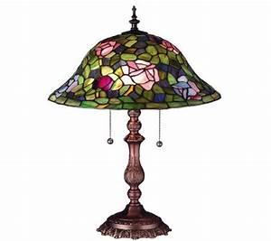 Tiffany style 19quoth rose bush lamp h58150 qvccom for Tiffany floor lamp qvc