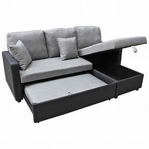 vente privee canape d39angle tissu convertible 4 places With vente privée canapé d angle