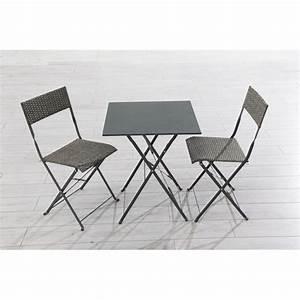 Table De Balcon Pas Cher : table chaise balcon l 39 univers du jardin ~ Teatrodelosmanantiales.com Idées de Décoration