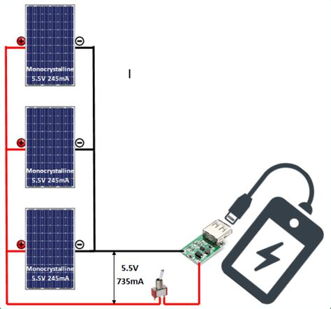 diy solar cell phone charger circuit diagram