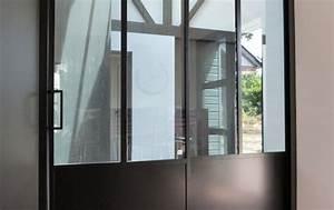 Porte Intérieur Double Vantaux : porte double vantaux coulissant galandage verrieres d 39 interieur pinterest portes ~ Melissatoandfro.com Idées de Décoration