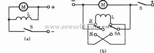 Dc Shunt Motor Commutation Circuit - Basic Circuit - Circuit Diagram