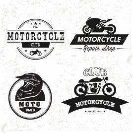 Motorbike logo collection text symbol ornament vectors ...