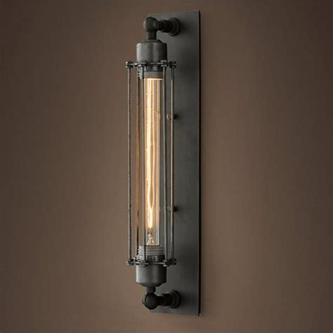 cage ls grand edison steel caged sconce wall light