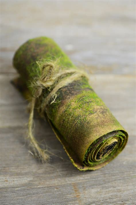 bark wrap  faux moss