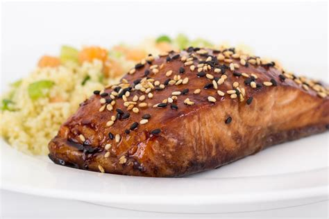 grilled salmon recipes grilled salmon with spicy ginger sesame sauce kitchme