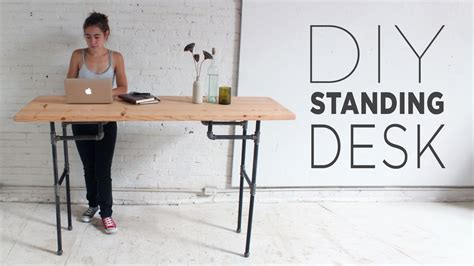 build a standing diy plumbers pipe standing desk