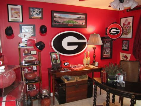 Georgia Bulldog Fan Office Aka Man Cave Traditional Home Decorators Catalog Best Ideas of Home Decor and Design [homedecoratorscatalog.us]