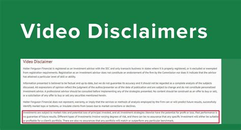 video disclaimers disclaimkit