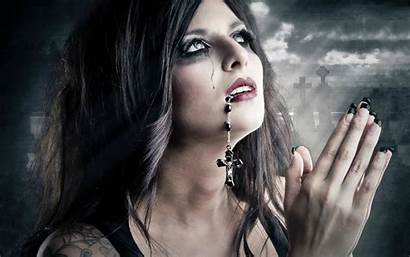 Gothic Dark Goth Theme Woman Beauty Wallpapers